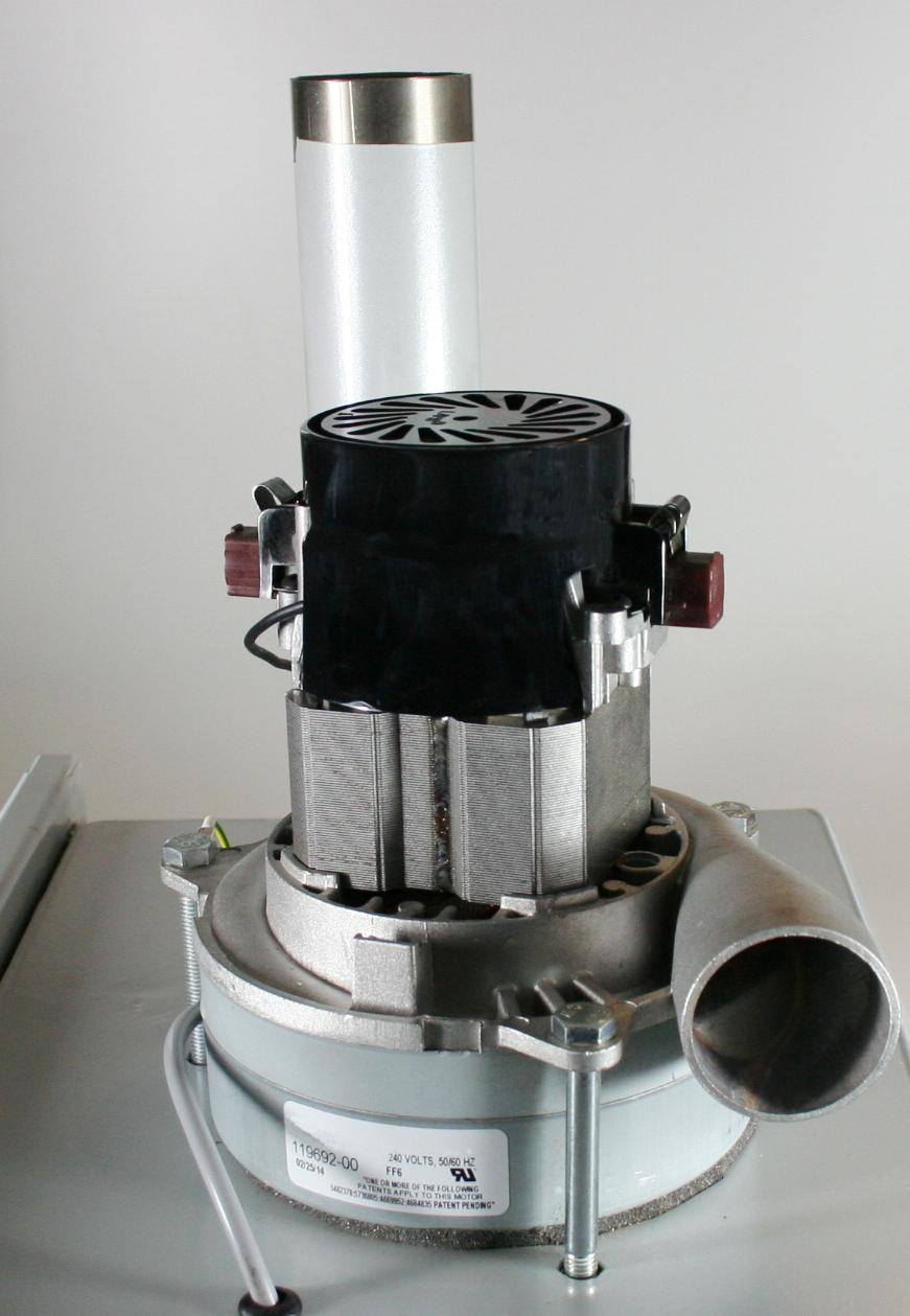 So sieht der Saugmotor in der Turbine aus. Hier setzen wir auch hochwertige bewährte Technik.